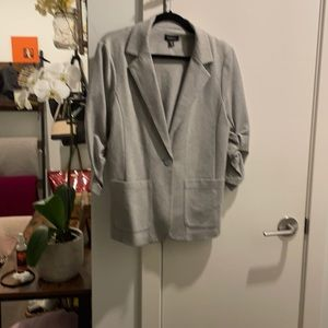 Casual Grey knit blazer